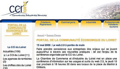 CCI Loiret Conférence Web 2.0