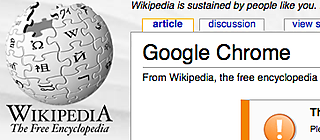 Wikipedia Chrome