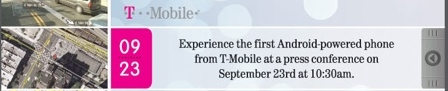 T-Mobile Android invitation