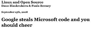 Google Steals Microsoft Code
