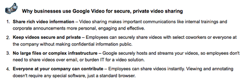 Google Video for apps