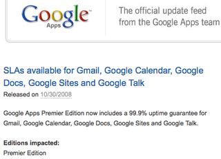 Google Apps SLA 2
