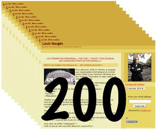 200 blogs