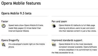 Opera Mobile features