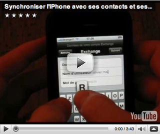 Vidéo Synchro Iphone