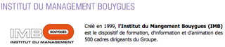 Institut Management Bouygues