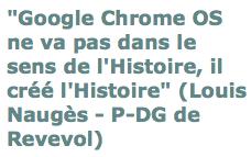 Chrome OS, sens histoire