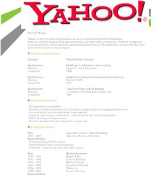 CV Yahoo