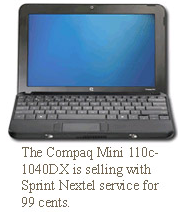 Compaq at $1 with Sprint