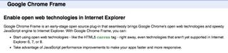 Google Chrome on IE small