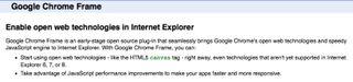 Google Chrome on IE small