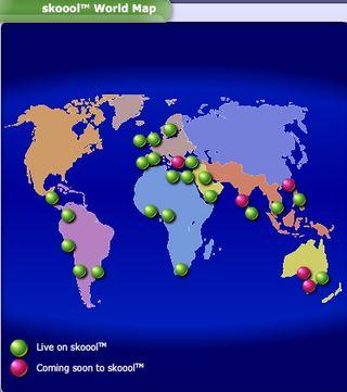 Skoools world map
