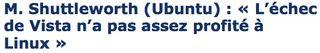 Shuttleworth sur Ubuntu -VIsta