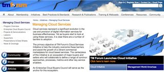 TM Forum on Cloud