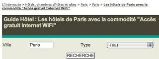 Guide Hotel Wi-Fi gratuit paris
