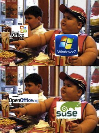 Obèse Microsoft et OSS
