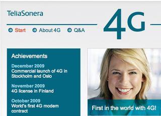 Telia first 4G