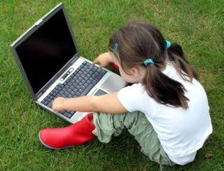 Young girl Digital Native