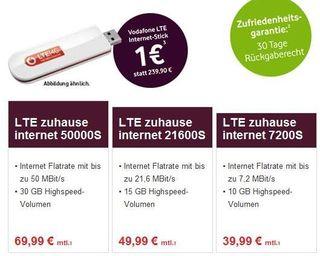 Tarifs Vodafone