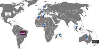 Carte Revevol dans le monde