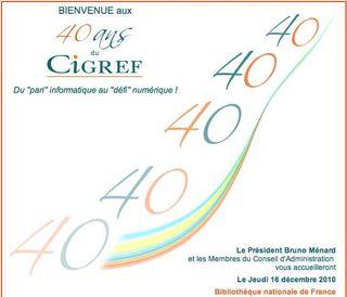 Invitation CIGREF 40 ans