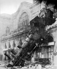 Accident train gare Montparnasse