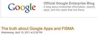 Google Blog on FISMA