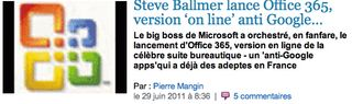 Ballmer Office 365 anti Google