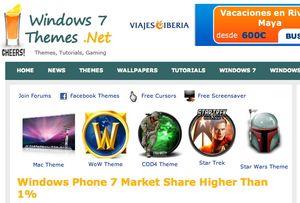 Windows 7 1% market share