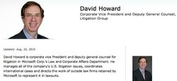 Microsoft David Howard