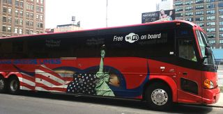 Bus New York Free Wi-Fi s