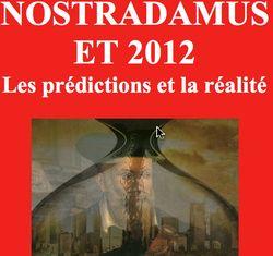Nostradamus prévisions 2012