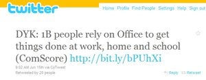 Twitter Microsoft Office