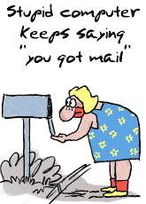 Cartoon - Computer you got mail
