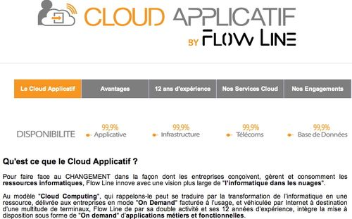 Cloud Applicatif Flow Line