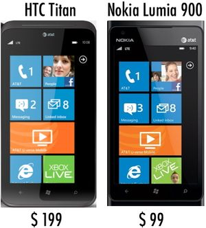 HTC Titan & Nokia Lumia 900 WM7