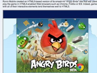 Angry Birds HTLM5