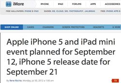 Apple announcement september 12
