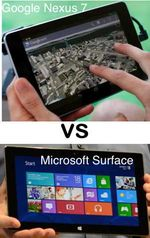 Google Nexus 7 vs Microosft Surface