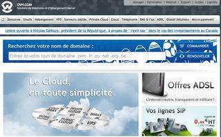 OVH Home Page
