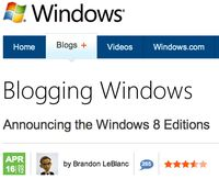 Announcing Windows 8 editions