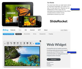 HTML5 exemples Aviary & SlideRocket