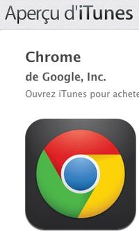 Chrome on iTunes