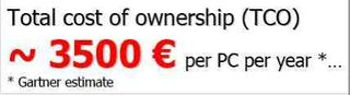 Gartner TCO PC 3 500 €
