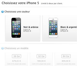 Prix France iPhone 5 nu