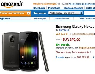 Amazon Samsung Galaxy Nexus