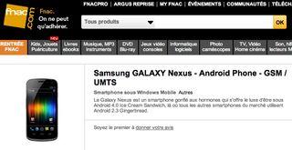 Fnac Samsung Galaxy Nexus