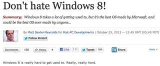 Don't hate Windows 8