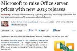 Microsoft increase prices for Office Server s