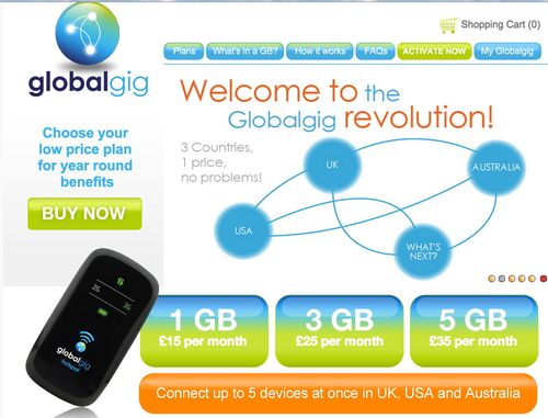 GlobalGig - cheap international roaming